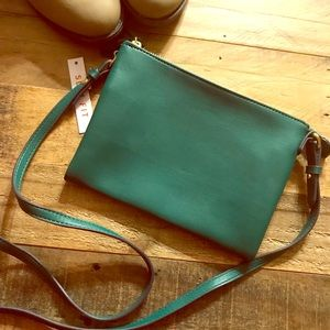Old Navy Emerald Green 3 Compartment Crossbody